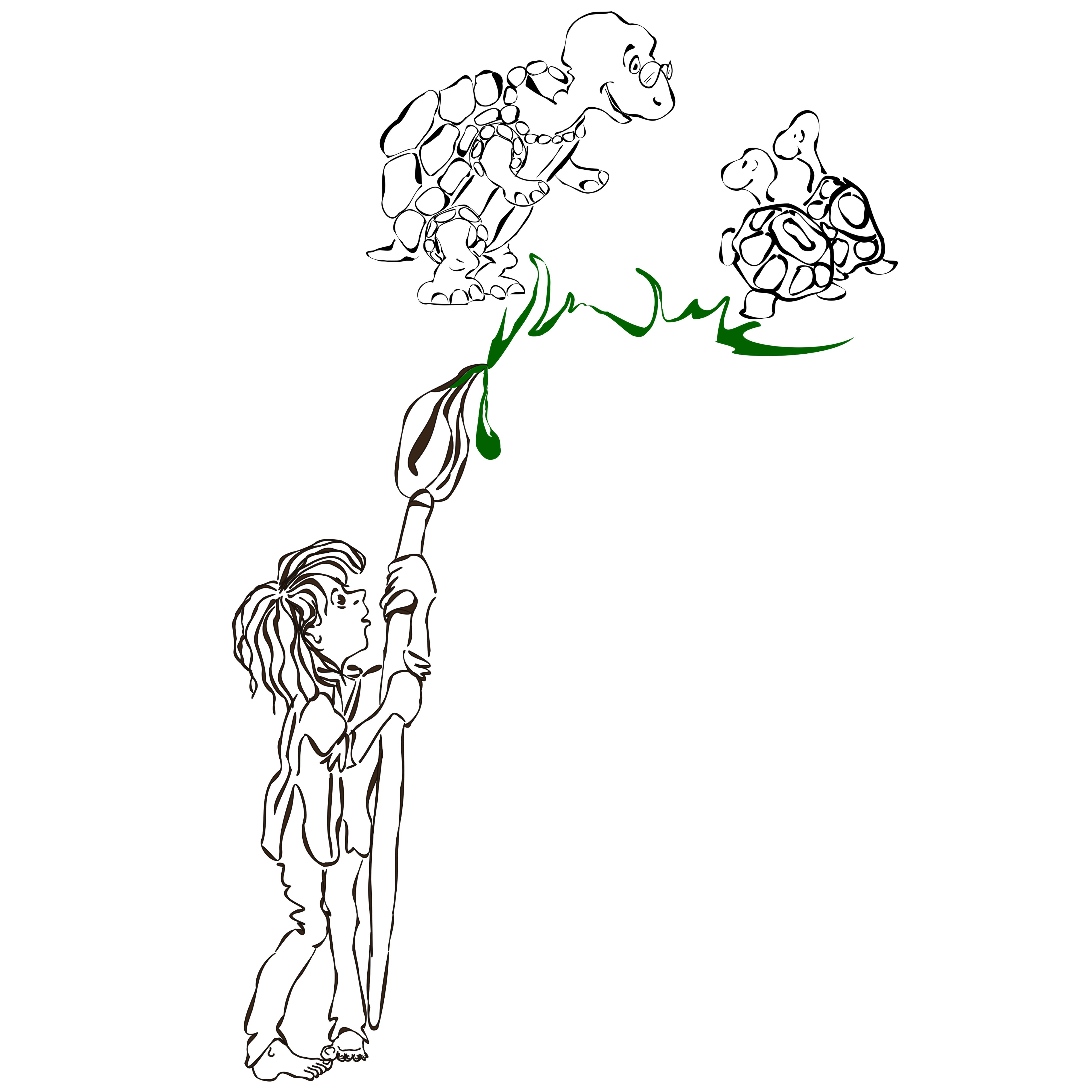 brush&tortoise sketch