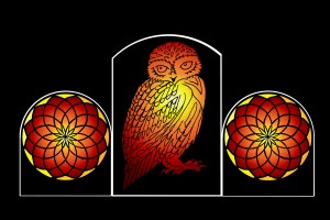 Stainedglass effect owl